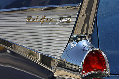 Art Print featuring the photograph Blue Chevy Bel Air by Patrice Zinck