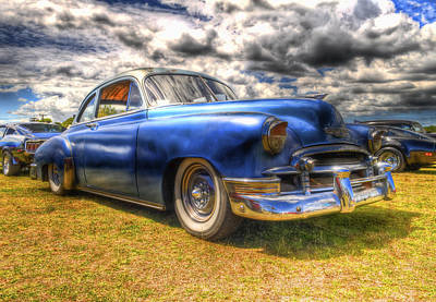 Blue Chevy Deluxe - Hdr Art Print