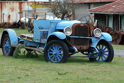 Photograph - Blue Chevy  by Ron Roberts