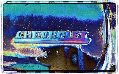 Junk Yard Photograph - Blue Chevy by Sylvia Thornton