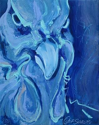 Blue Chicken Art Print