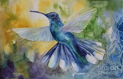 Blue Chitter Art Print