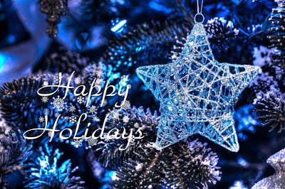 Edward Hopper - Blue Christmas - Happy Holidays by Shelley Neff