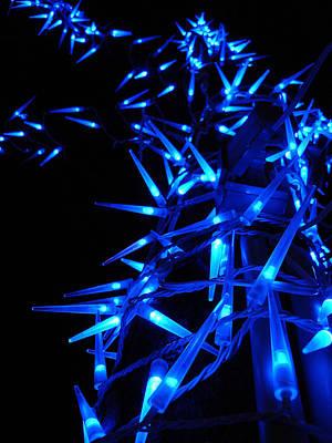 Blue Christmas Tree Art Print by Michel Mata