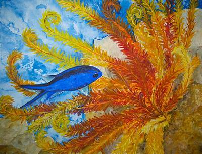 Painting - Blue Chromis by Patricia Beebe