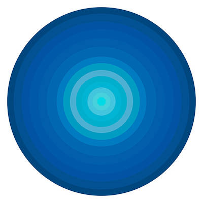 Graphical Painting - Blue Circles by Frank Tschakert