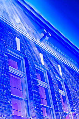 Photograph - Blue City Hall by Adria Trail