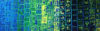 Art Print featuring the painting Blue City by Linda Bailey