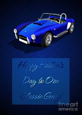 Digital Art - Blue Classic Father's Day by JH Designs