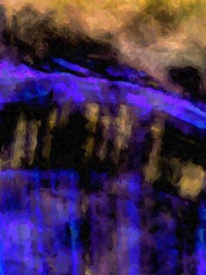 Digital Art - Blue Cliff by David Hansen