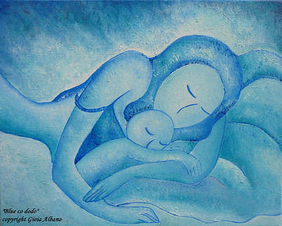 Blue Co Sleeping Art Print by Gioia Albano