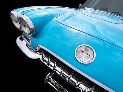 Antique Automobiles Photograph - Blue Corvette C1 1958 by Gill Billington
