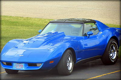 Photograph - Blue Corvette by Kay Novy