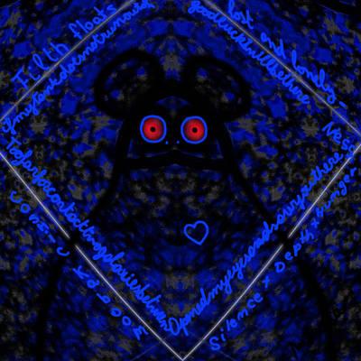 Digital Art - Blue Cosmic Nebula by Marcela Bennett