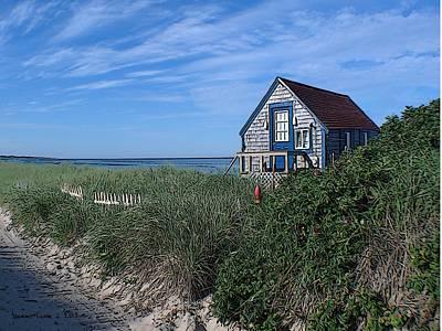 Blue Cottage Cape Cod Print by Samuel H Close