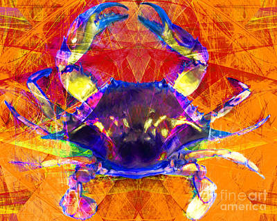 Crawfish Photograph - Blue Crab 20140206v2m160 by Wingsdomain Art and Photography