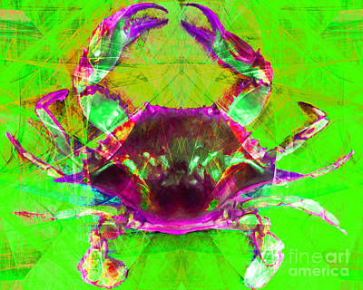 Photograph - Blue Crab 20140206v2m88 by Wingsdomain Art and Photography