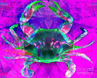 Photograph - Blue Crab 20140206v2p108 by Wingsdomain Art and Photography