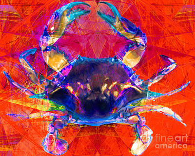Crawfish Photograph - Blue Crab 20140206v2p180 by Wingsdomain Art and Photography