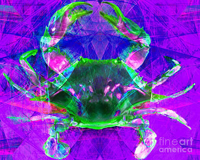 Crawfish Photograph - Blue Crab 20140206v2p88 by Wingsdomain Art and Photography