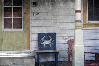 Blue Crab Chair Art Print by Brian Wallace