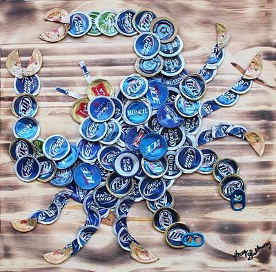 Crab Mixed Media - Blue Crab by Kay Galloway