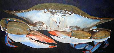 Painting - Blue Crab by Keith Wilkie