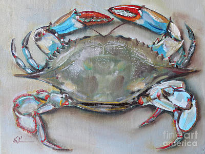 David Bowie Royalty Free Images - Blue Crab Royalty-Free Image by Kristine Kainer