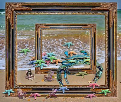 Recently Sold - Animals Digital Art - Blue Crab Stars by Betsy Knapp
