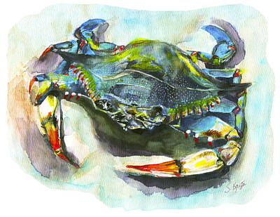 Painting - Blue Crab  by Stephanie  Kriza