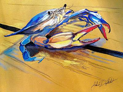 Painting - Blue Crabbie  by John  Duplantis