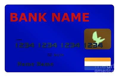 Financial Interest Digital Art - Blue Credit Card by Henrik Lehnerer