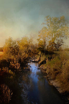 Autumn Scene Photograph - Blue Creek In Autumn by Jai Johnson