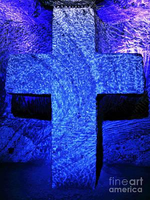 Blue Cross Of Zipaquira Art Print by John Rizzuto