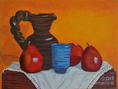 Art Print featuring the painting Blue Cup by Melvin Turner