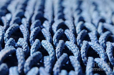Ropes Photograph - Blue by Dan Holm