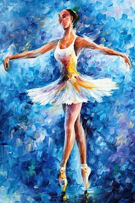 Blue Dance Art Print by Leonid Afremov