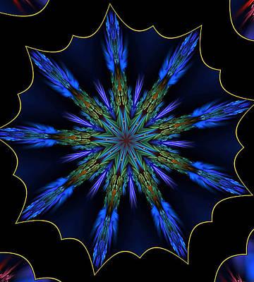 Blue Danube Kaleidoscope Art Print