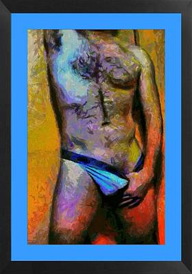 Manipulation.. Mature Man Photograph - Blue Day by Gene Bishop