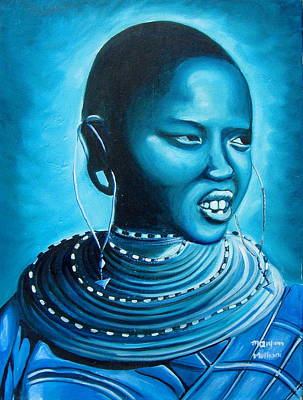 Painting - Blue Day by Maryann Muthoni