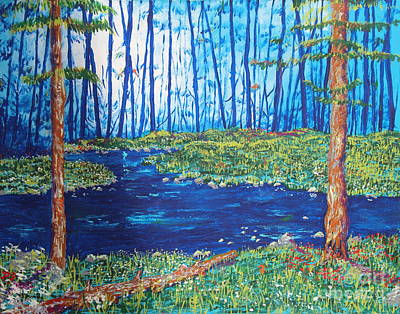 Painting - Blue Day Stream by Stefan Duncan