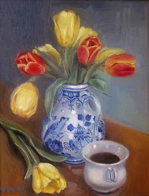 Blue Delft Art Print