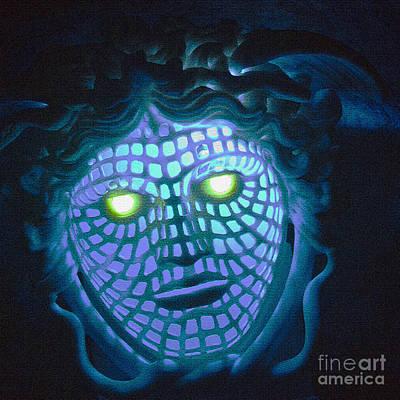 Blue Demon Art Print by Heiko Koehrer-Wagner