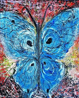 Blue Design Art Print by Evelina Popilian