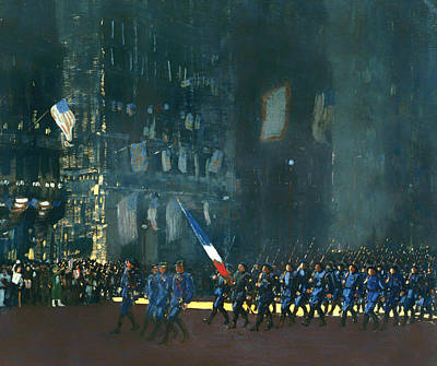 1918 Painting - Blue Devils On Fifth Avenue 1918 by Mountain Dreams