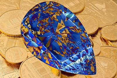 Digital Art - Blue Diamond by Ron Davidson