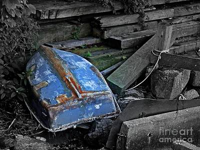 Photograph - Blue Dinghy by Marcia Lee Jones