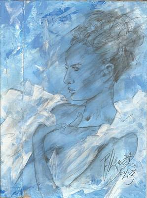 Blue Diva In White Original