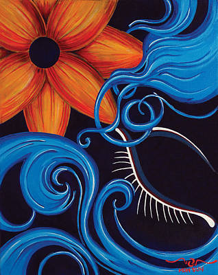 Painting - Blue by Divinity MonSun Chan