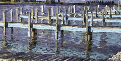 Photograph - Blue Dock by Mary Underwood